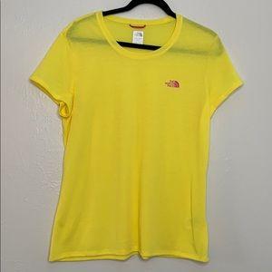 The north face vapor wick yellow T-shirt XL
